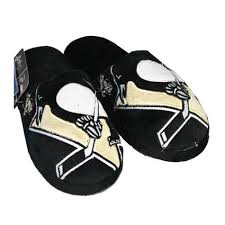 Pittsburgh Penguins Bedroom Decor Nhl Pittsburgh Penguins Big Logo Slippers Free Shipping On