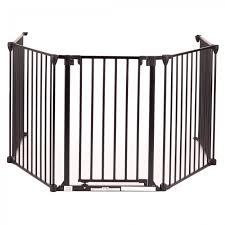 baby vivo comfortable barrier metal 4 1 fire guard heater guard in black 4 panels and one door