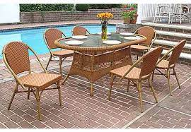 7 piece 72 oval cafe dining set with