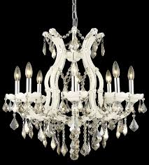 picture of elegant 2800d26wh gt rc maria theresa chandeliers white 26in