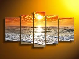 5 panels sunrising canvas print painting for living room wall art picture gift home decoration fiv0029
