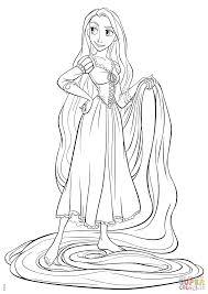Small Picture Rapunzel from Tangled coloring page Free Printable Coloring Pages