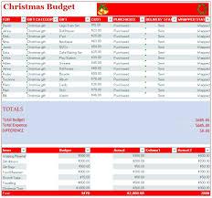 Christmas Budget Template Template Creator
