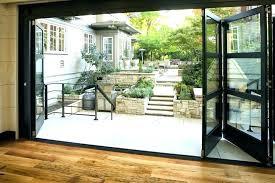 folding glass doors exterior post bi fold patio s exterior glass doors accordion folding