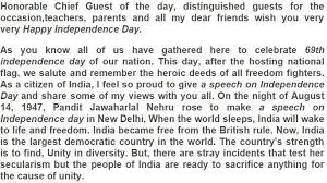 independence day speech essay  14 speech in english independence day essay