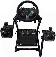 Wheel, pedals and shifter mount securely to our wheelstand. Amazon Com Gt Omega Racing Wheel Stand Pro For Logitech G923 G29 G920 With Shifter Mounts V1 V2 Thrustmaster T500 T300 Tx Th8a Ps4 Xbox Fanatec Tilt Adjustable To Ultimate