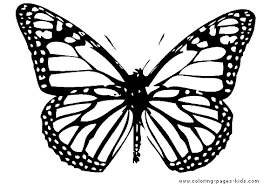 Small Picture Butterfy Coloring Page For Kids Single Butterfly