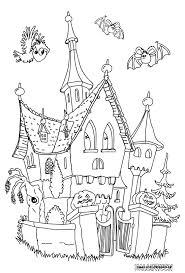 Grande Image Le Chateau Hante Ausmalbild Pinterest Enfants Coloriage Dessin De Manoir Et Sorciere L