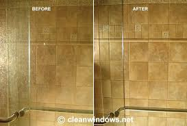 cleaning shower doors with vinegar and baking soda