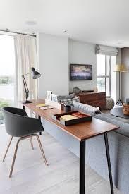 office space in living room. Living Room Ideas · Aproveite A área Atrás Do Sofá Para Colocar Uma Mesa Estreita E Cadeira Adaptável Office Space In S