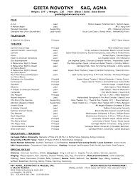 Musical Theater Resume Sample Musical Theatre Resume Resume Samples