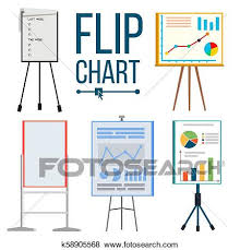 Types Of Flip Chart Flip Chart Set Vector Office Whiteboard Different Types