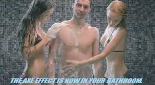 the axe effect in shower gel tv ad