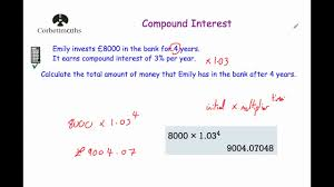 Compound Interest Chart Pdf Compound Interest Corbettmaths