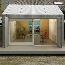 Image Doors Aluminium Lushome Bright Garage Redesign Idea Creating Modern Home Office With