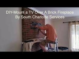 easy brick fireplace tv articulated wall mounting diy charlotte nc
