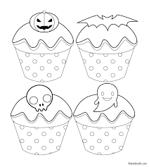 Delicious sugary frosting, my mouth is watering just thinking about them. Free Halloween Cupcake Coloring Page Babadoodle