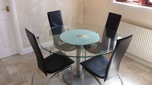 modern round gl dining table 4 chairs with lazy susan round dining table with rotating centre supplieranufacturers