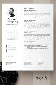 Minimalist Resume Template Word Professional Resume Cv Template