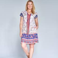 Orientique Easyfit V Neck Dress With Pockets Openshop