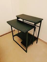 Image Shelf Hypeless Interior Design Styles Two Tier Foldable Table Desk Black Secondhandhk
