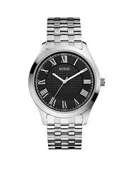 men guess® watches belk guess® men s classic r numeral steel watch