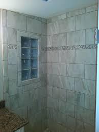Glass Block Window In Shower another custom tile bathroom landmark contractors 7101 by xevi.us