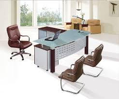 awesome glass top executive office desk high quality fashion tempered glass top office executive table