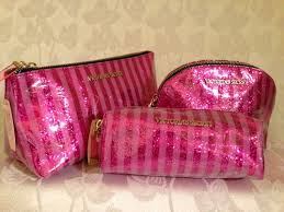 bag shimmer gold sequin they have these in the would love the travel makeup brushes one new victoria 39 s secret