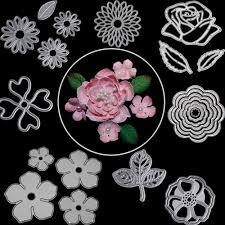 Paper Flower Cutting Tools 2019 Rose Flower Leaves Metal Cutting Dies For Scrapbooking Die Cut