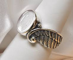 angel wing pet cremation ashes ring 925 sterling silver pet memorial ring angel ring custom pet cremation jewelry bereavement ring any color