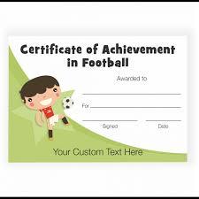 Achievement Certificate Character Football Achievement Certificate