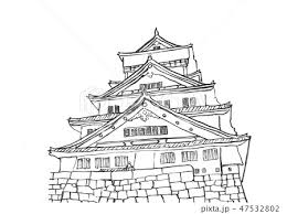 イラスト 大阪城 100名城のイラスト素材 47532802 Pixta