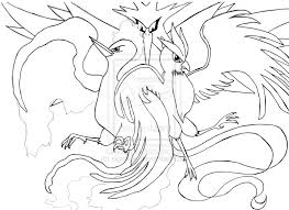 Small Picture Image Gallery of Legendary Bird Pokemon Coloring Pages
