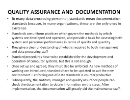 Quality Assurance Plan Example L9 Quality Assurance And Documentation