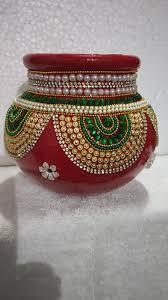 Diwali Kalash Designs Handmade Kalash Decorations Kalash Decoration Coconut