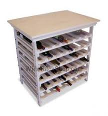 Wine storage table Diy 96 Bottle Wood Wine Rack Table Decorpad Buy Our Wood Wine Rack Table With Storage Capacity Of 96 Bottles