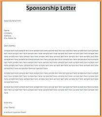 Venue Sponsorship Proposal Template Sponsorship Letter For