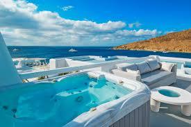 Outdoor Jacuzzi Outdoor Jacuzzi Classic Room Petasos Beach Hotel Spa Mykonos