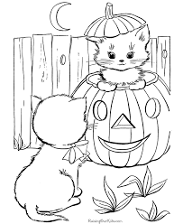 Free Halloween Cats Coloring Pages Kittens