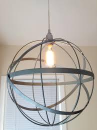 diy metal orb chandelier