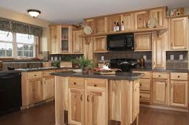 Rustic Hickory Kitchen Cabinets Solid Wood Hickory Wood Cabinets73