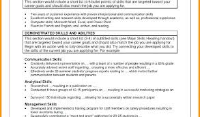 Communication Skills For Resume Writing Examples Example Based