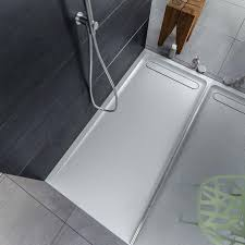 rectangular shower base solid surface with channel drain solid shower base custom corian shower base