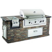 american outdoor grill stack stone brick bbq island w 36 inch natural gas grill