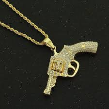 Hiphopbling #1 hip hop jewelry streetwear brand since 2003. Hip Hop Rhinestones Paved Bling Iced Out Gold Revolver Gun Pendants Necklace For Men Rapper Jewelry Drop Shipping Pendant Necklaces Aliexpress