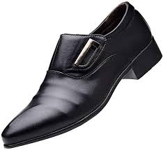 Emerayo <b>Men's Business</b> Leather Shoes <b>Men's Pointed</b> Toe Buckle ...