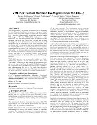 VMFlock: Virtual machine co-migration for the cloud (PDF Download ...