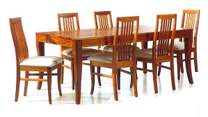 wooden dining furniture. Amazing-wooden-rectangular-dining-table-with-wood-padded- Wooden Dining Furniture E