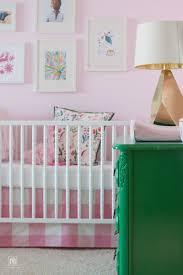 pink diy crib skirt pink buffalo check material diy decor mom